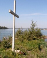 Крест на месте расстрела А.Колчака