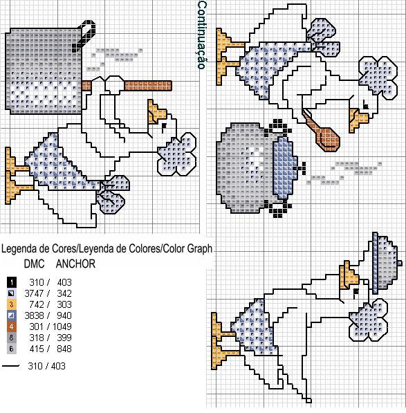 Схемы вышивок крестом на полотенце 138