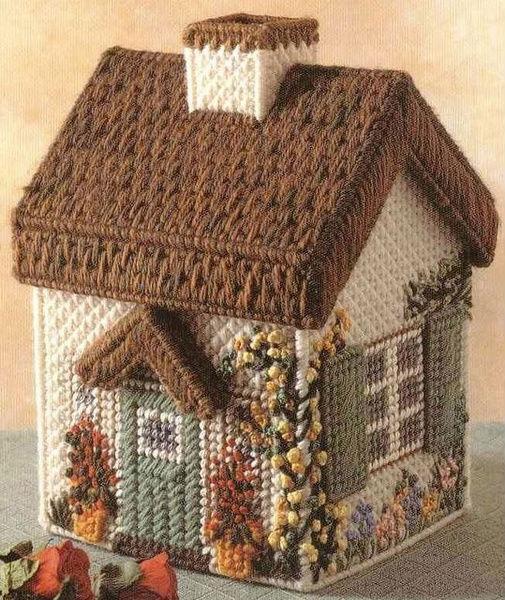 Тоже 3D домики, вышитые на