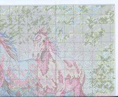 Схема вышивки Бегущие лошади (Dimensions) 3 из 6.