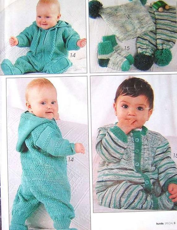 Вязание комбинезона на мальчика до года