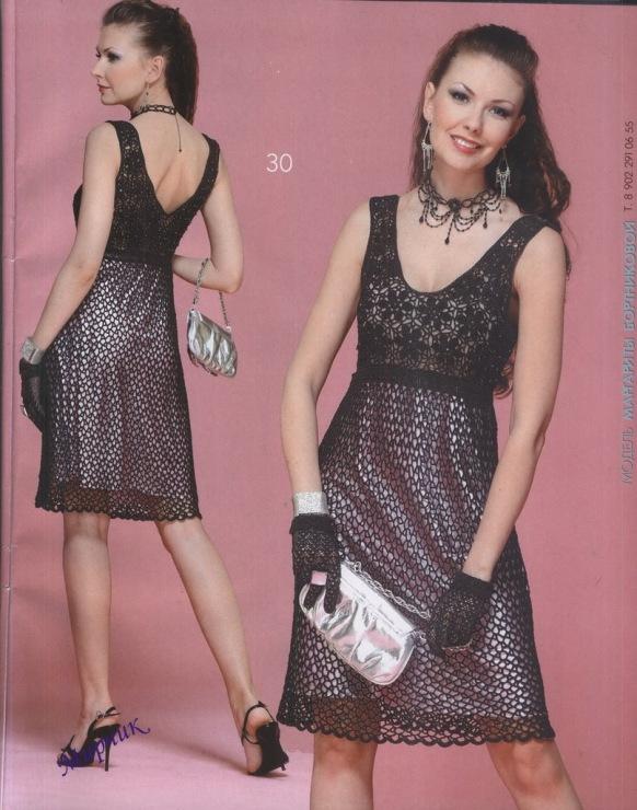 Подборка схем вязания крючком - платья для девочек / вязаные