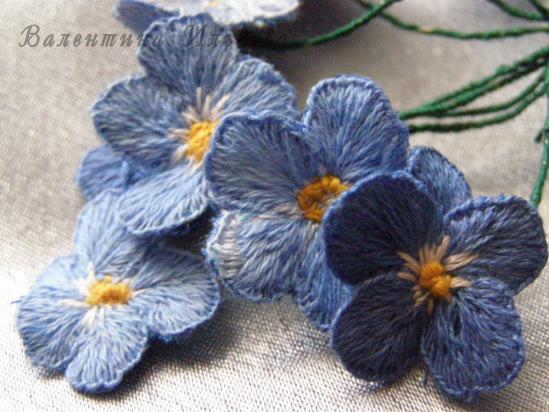 Silk yarn embroidery d flower crafts ideas