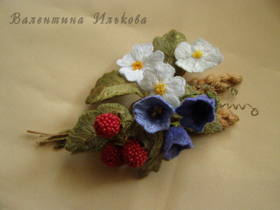 silk yarn embroidery: 3d embroidery flower