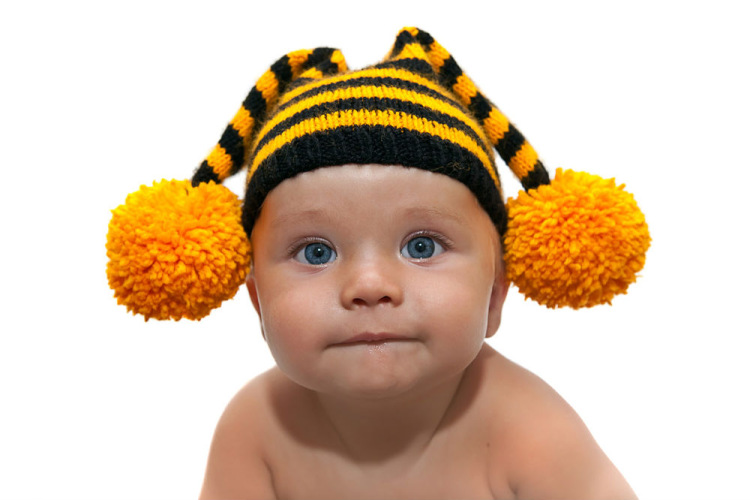 Вязаные шапочки для малышей