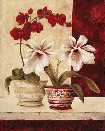 """Схема вышивки  """"Цветы и вазы """" ."""