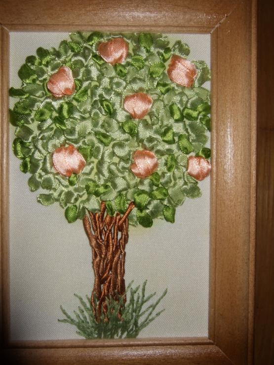 Дерева из лент своими руками