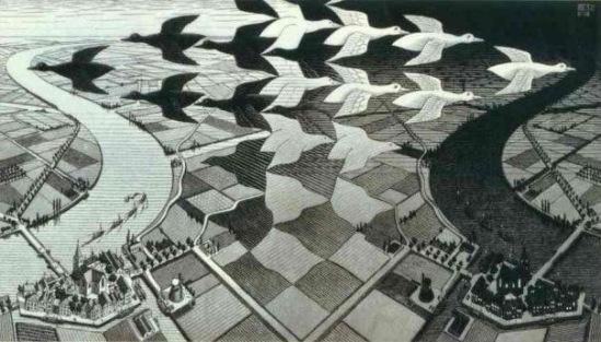 Правая и левая част композиции