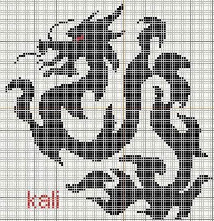 Тэги: Монохром, драконы, схема