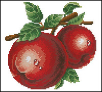 Овощи, фрукты и ягоды.  Бесплатные схемы вышивки крестом.  Раздел.  Добавлено: 2013-05-02.
