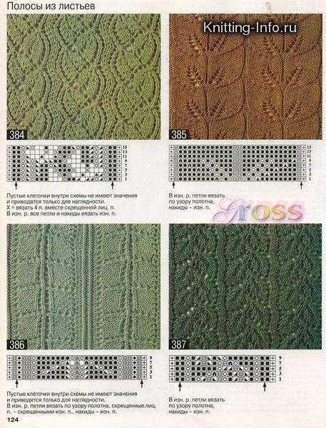 Мужские узоры для вязания спицами с описанием  763