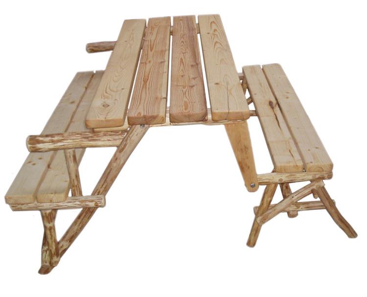 Стол и лавки раздвижная