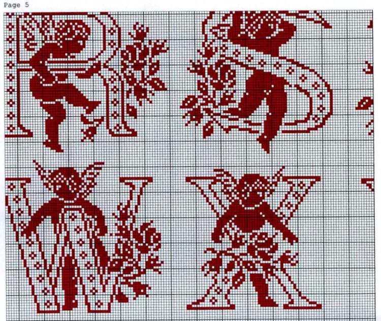 Монохромные схемы вышивки