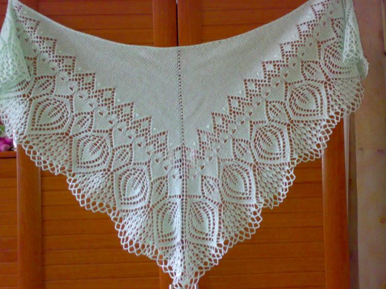 Вязание платков спицами схемы с описанием