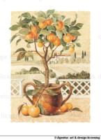 """Схема вышивки  """"Лимонное дерево """" ."""