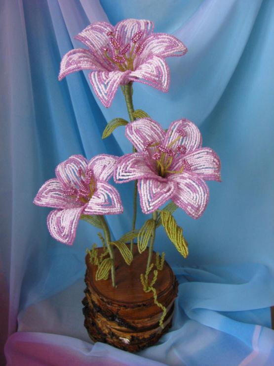 бисера лилии водяные лилии