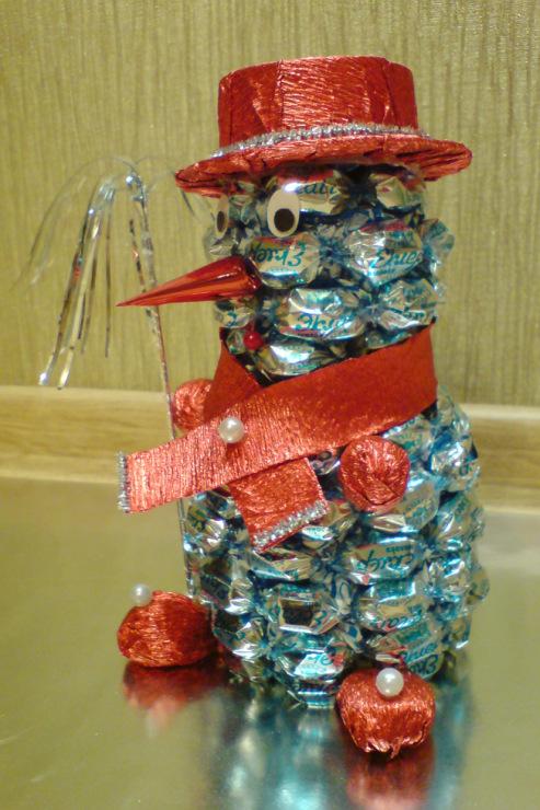 Новогодние сувениры своими руками из конфет