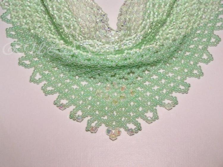 Перед вами схема плетения красивой косынки из бисера и схемы вышивки и идеи. .  Так вот сделала в один пост для...