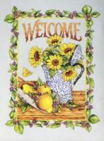Набор для вышивания Sunflower Welcome, Bucilla 45294 купить в санкт петербурге Шале, Хлопок (Evenweave 28)...