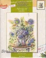 Название: Hydrangea and ButterfliesПроизводитель:LanarteНомер: 34809Формат: jpegРазмер: 8.24 Схема вышивки крестом.
