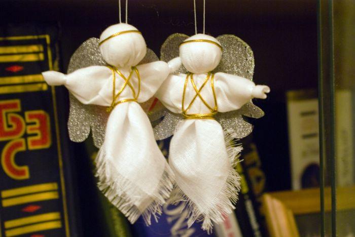 Новогодние игрушки своими руками ангелов