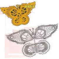 Здесь я собрала всевозможные бабочки, связанные крючком.  Размещено с помощью приложения.  Я - фотограф.