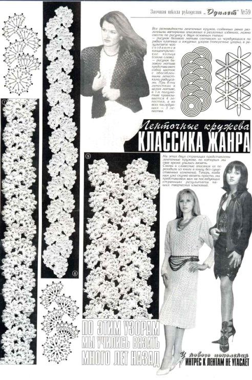 Детские платья ленточное вязание
