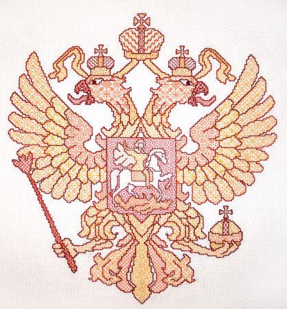 Схема вязания российского герба